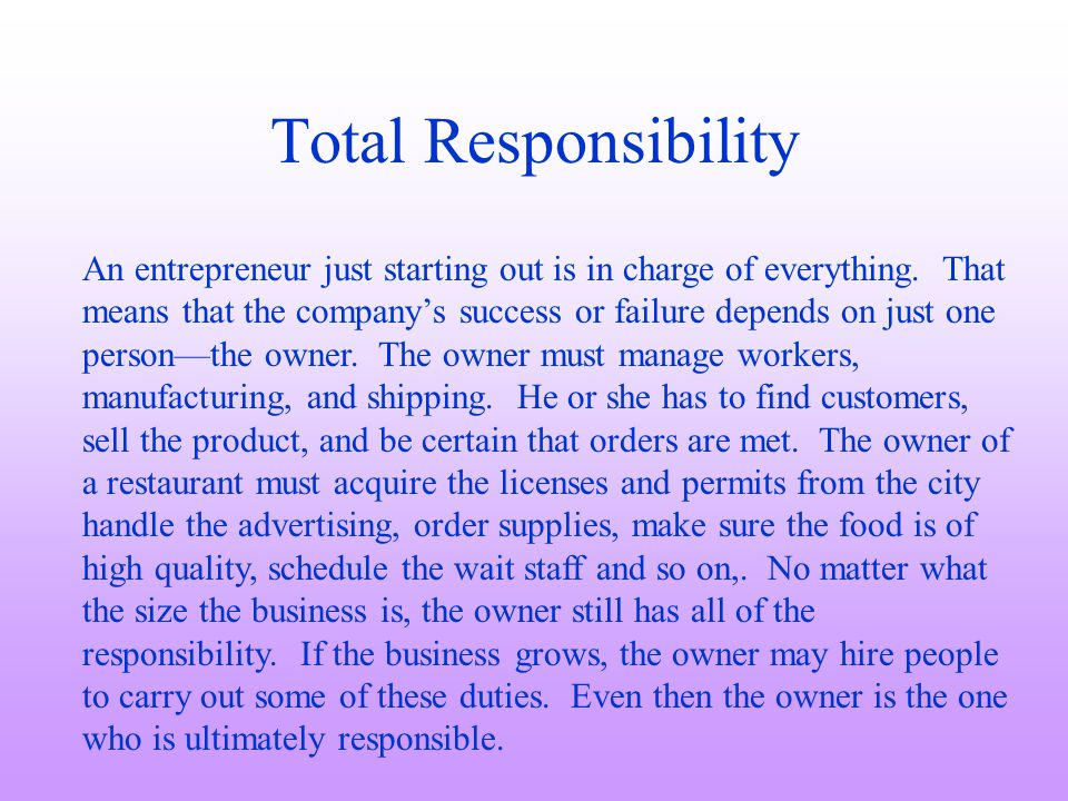 Total Responsibility
