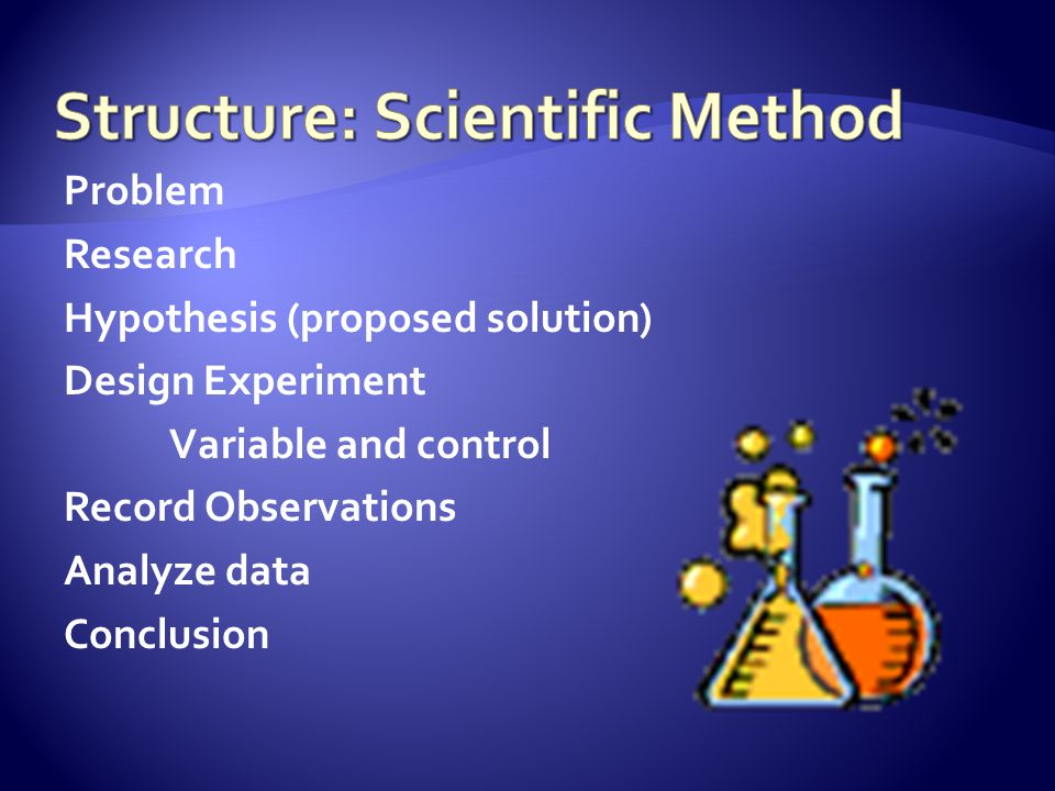 Structure: Scientific Method