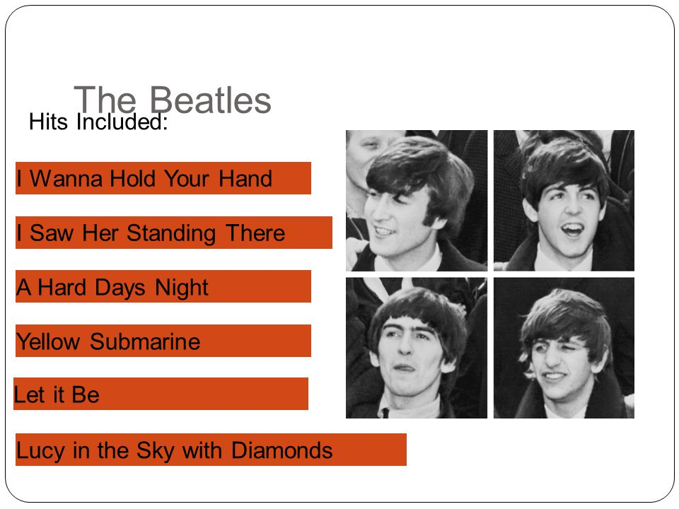 The Beatles Hits Included: I W____ H___ Y___ H___