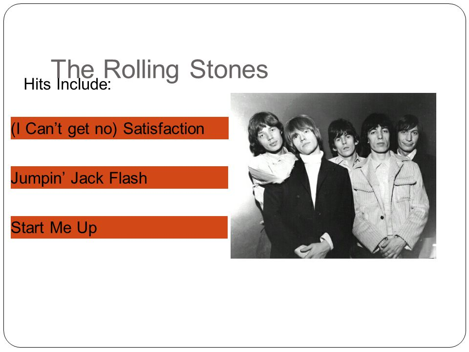 The Rolling Stones Hits Include: (I Can't get no) Satisfaction