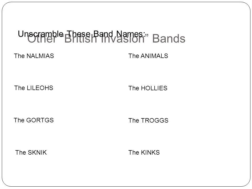 Other British Invasion Bands
