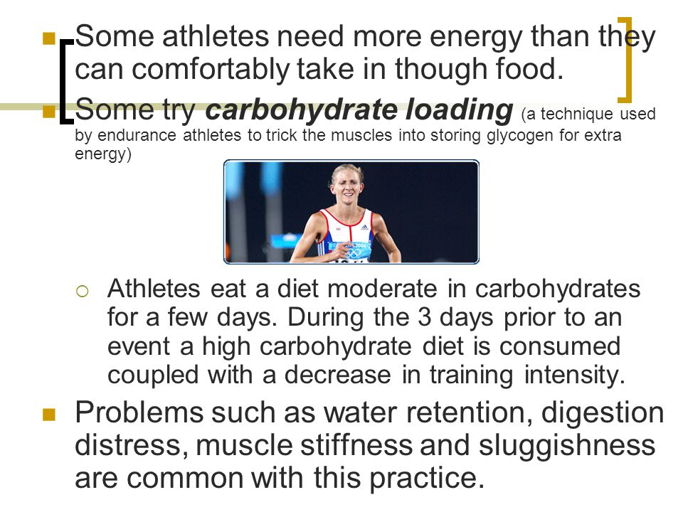 Some athletes need more energy than they can comfortably take in though food.