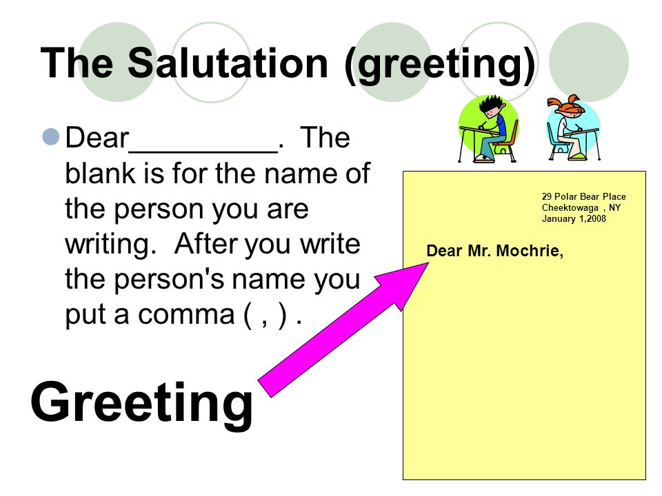 The Salutation (greeting)