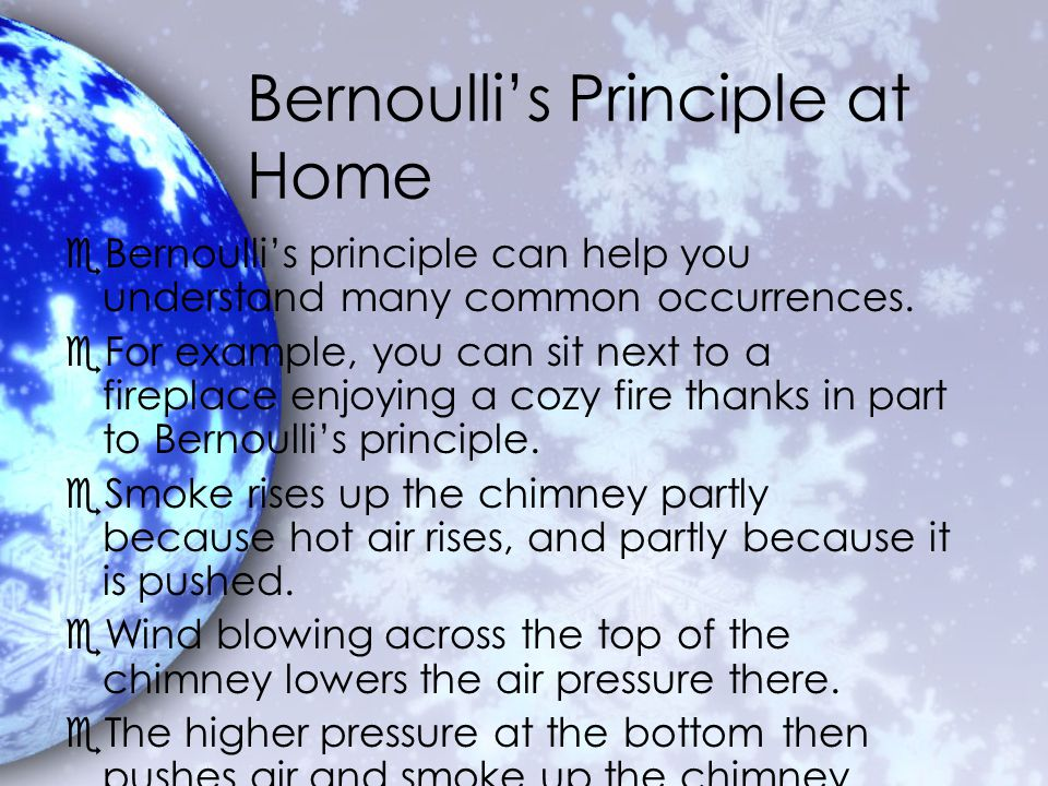 Bernoulli's Principle at Home