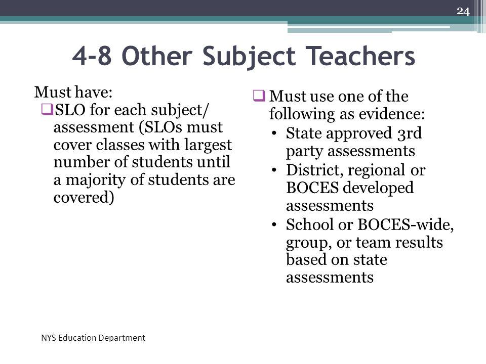 4-8 Other Subject Teachers