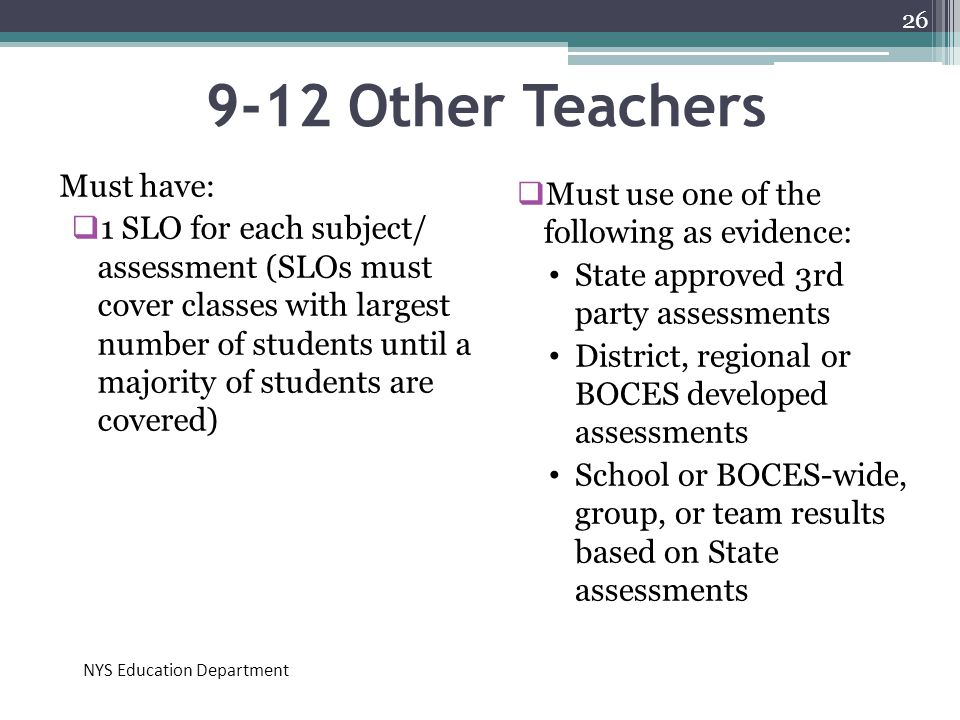 9-12 Other Teachers Must have: