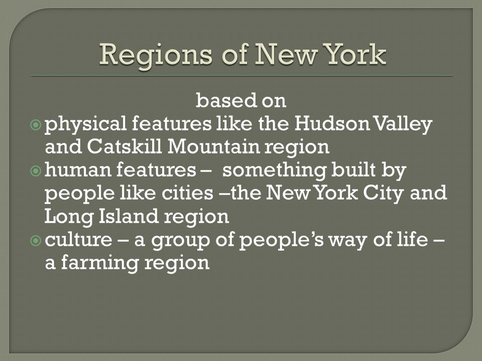 Regions of New York based on