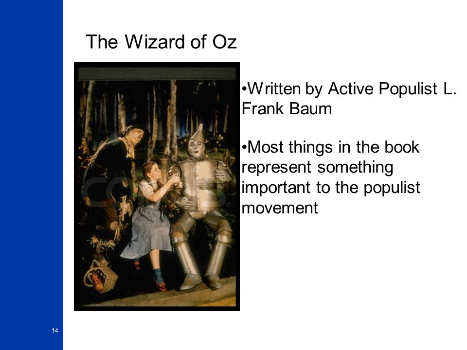 The Wizard of Oz Written by Active Populist L. Frank Baum