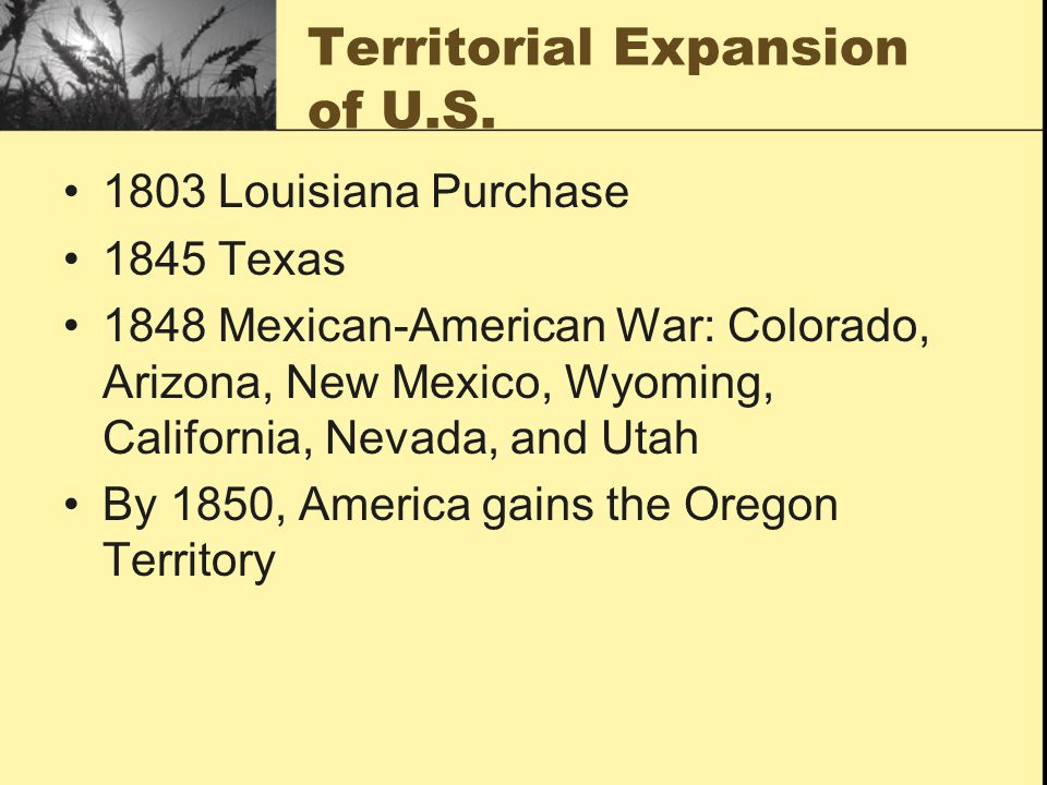 Territorial Expansion of U.S.