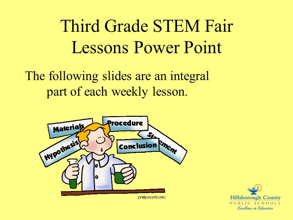 Third Grade STEM Fair Lessons Power Point