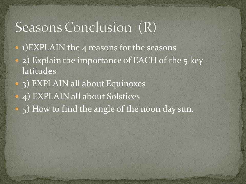 Seasons Conclusion (R)