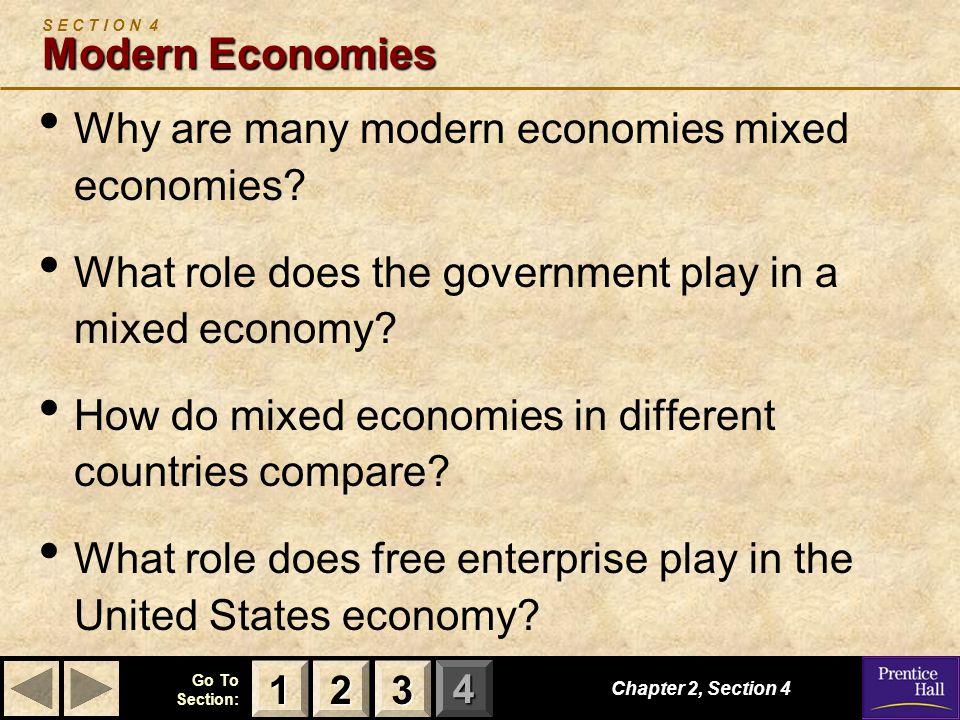 S E C T I O N 4 Modern Economies