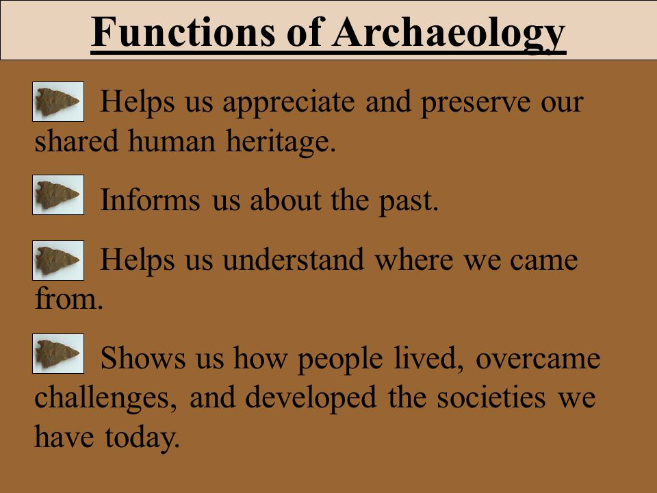Functions of Archaeology
