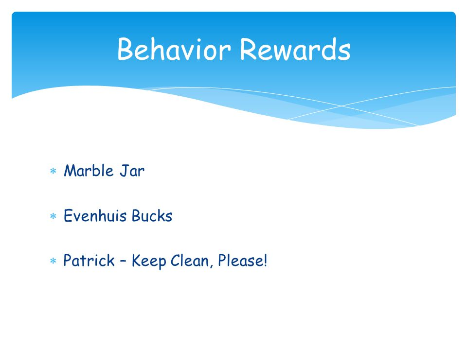 Behavior Rewards Marble Jar Evenhuis Bucks