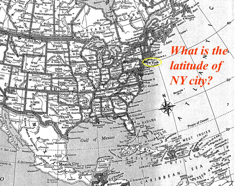 What is the latitude of NY city