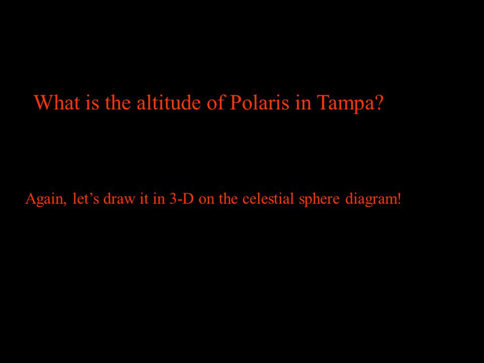 What is the altitude of Polaris in Tampa