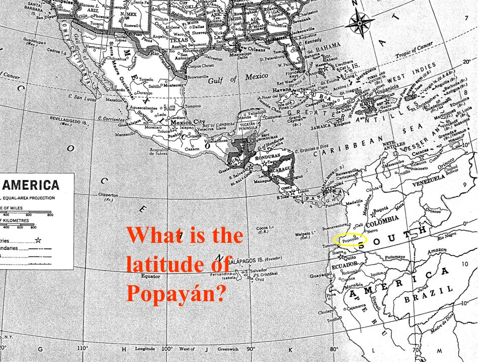 What is the latitude of Popayán