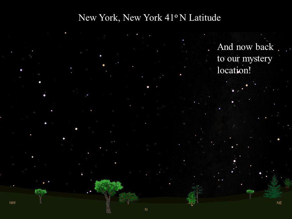 New York, New York 41o N Latitude