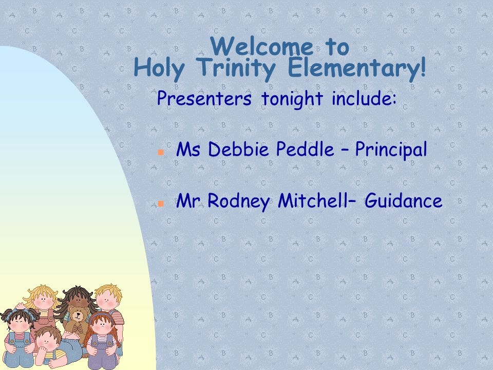 Welcome to Holy Trinity Elementary!