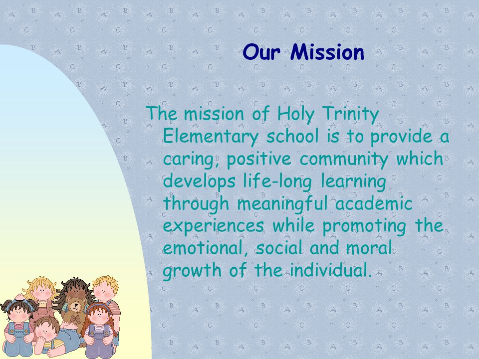 01/07/11 Our Mission.
