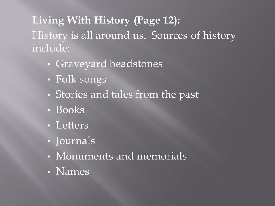Living With History (Page 12):