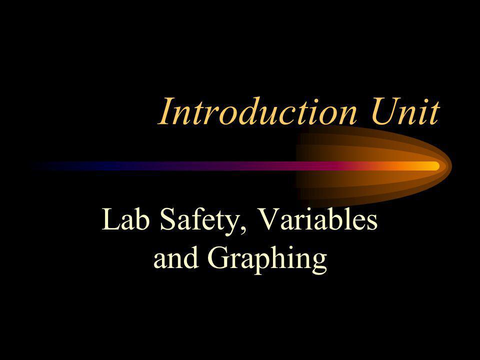 Lab Safety, Variables and Graphing