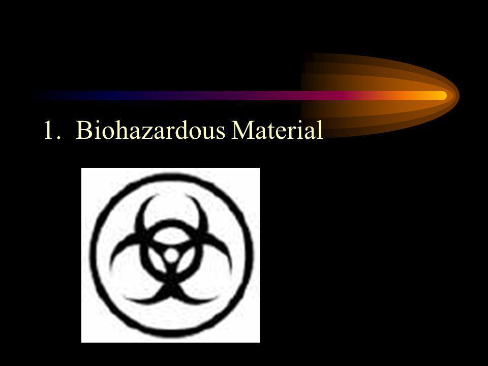 1. Biohazardous Material