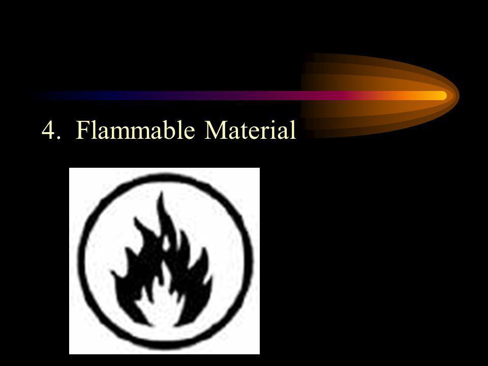 4. Flammable Material