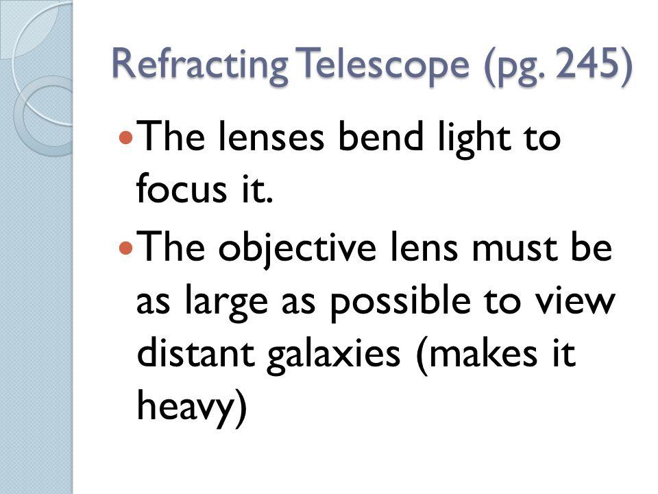 Refracting Telescope (pg. 245)