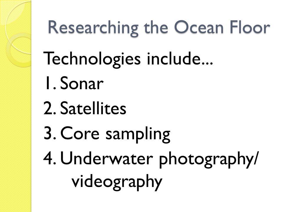 Researching the Ocean Floor