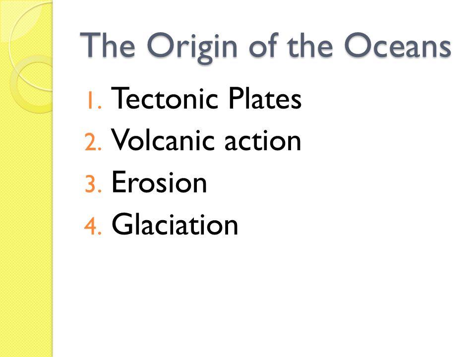 The Origin of the Oceans