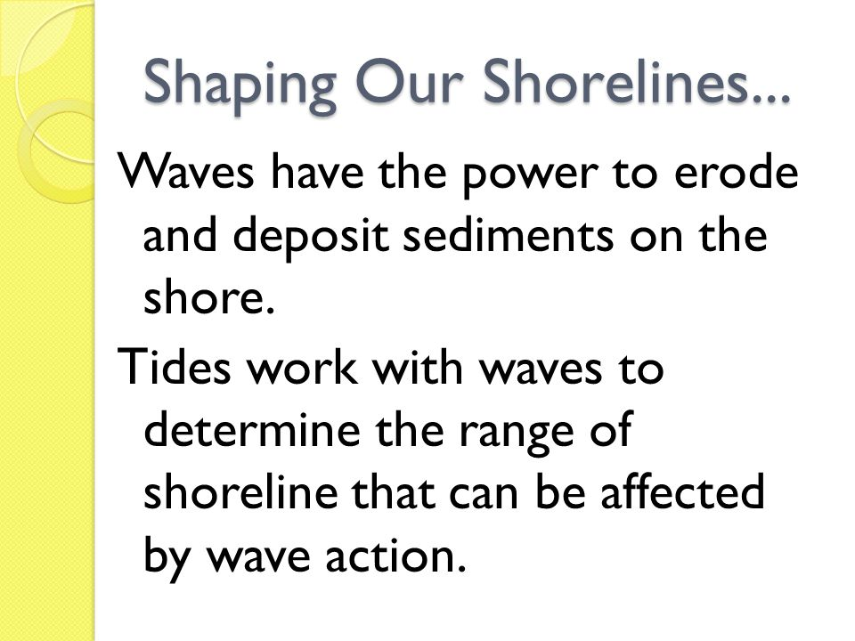 Shaping Our Shorelines...