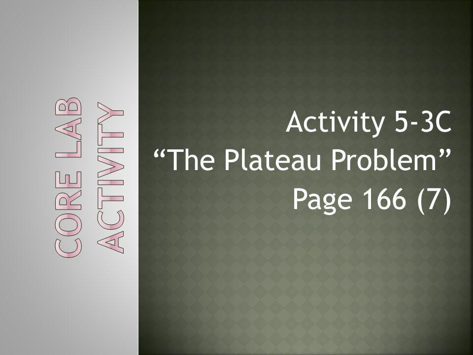 Activity 5-3C The Plateau Problem Page 166 (7)
