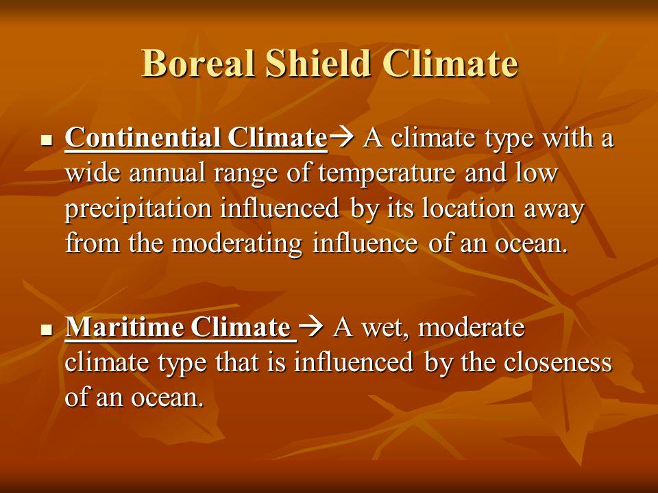 Boreal Shield Climate