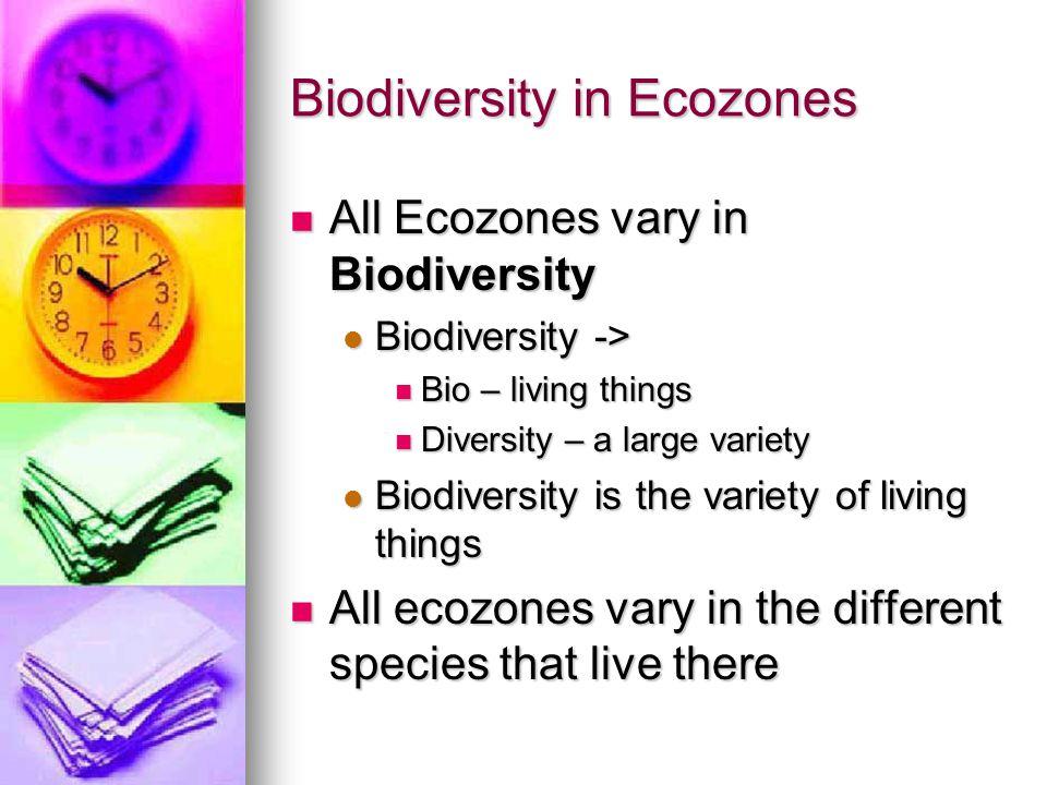 Biodiversity in Ecozones