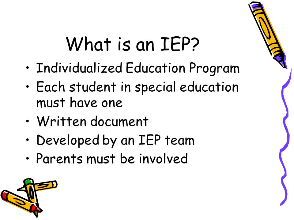 What is an IEP Individualized Education Program