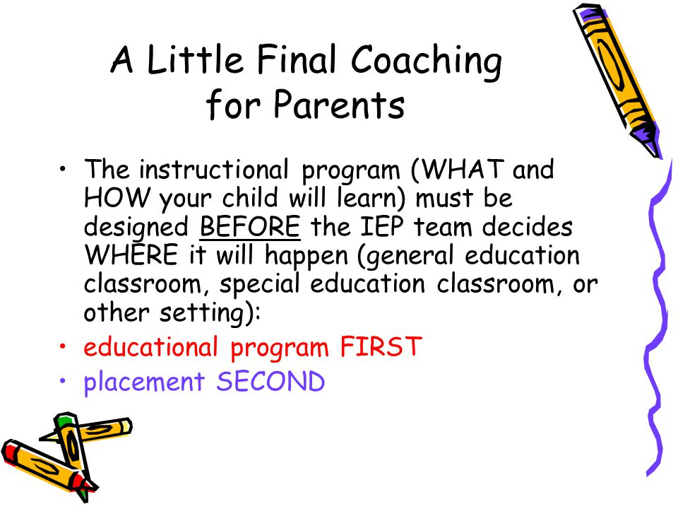 A Little Final Coaching for Parents