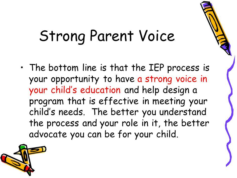 Strong Parent Voice