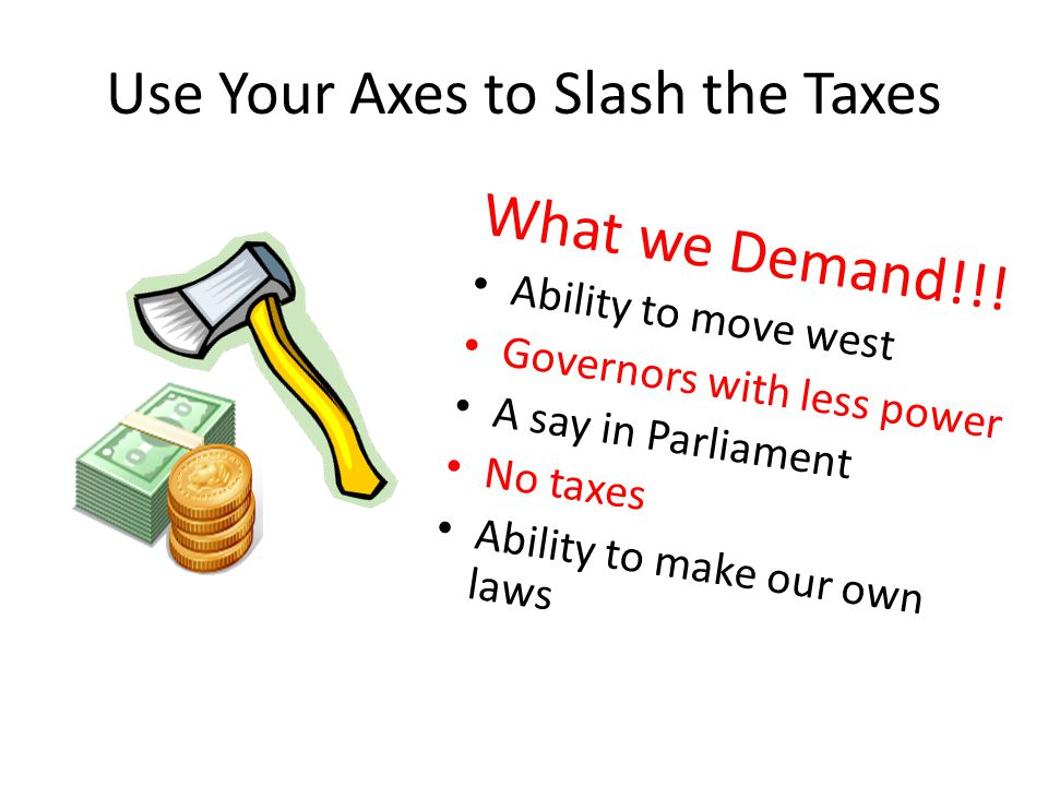 Use Your Axes to Slash the Taxes