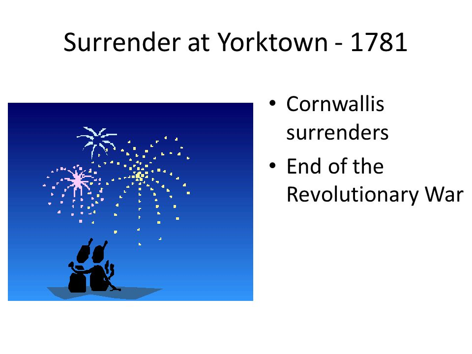 Surrender at Yorktown - 1781