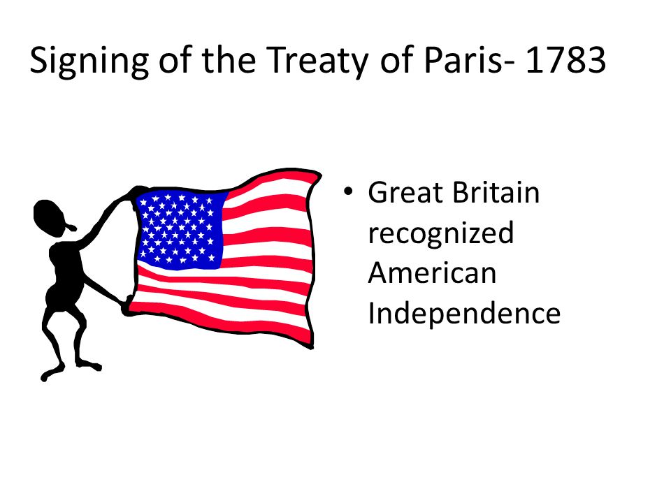 Signing of the Treaty of Paris- 1783