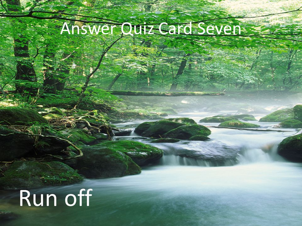 Answer Quiz Card Seven Run off