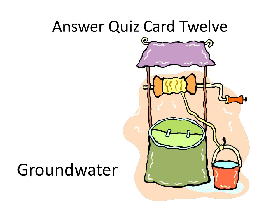 Answer Quiz Card Twelve