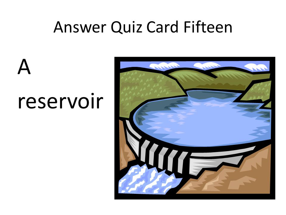 Answer Quiz Card Fifteen