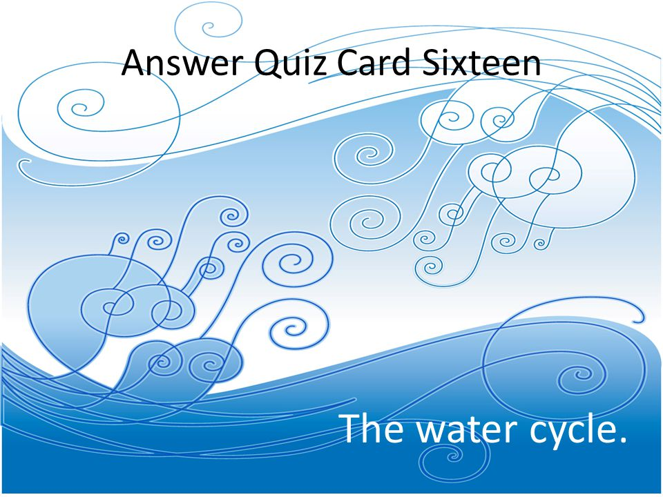 Answer Quiz Card Sixteen