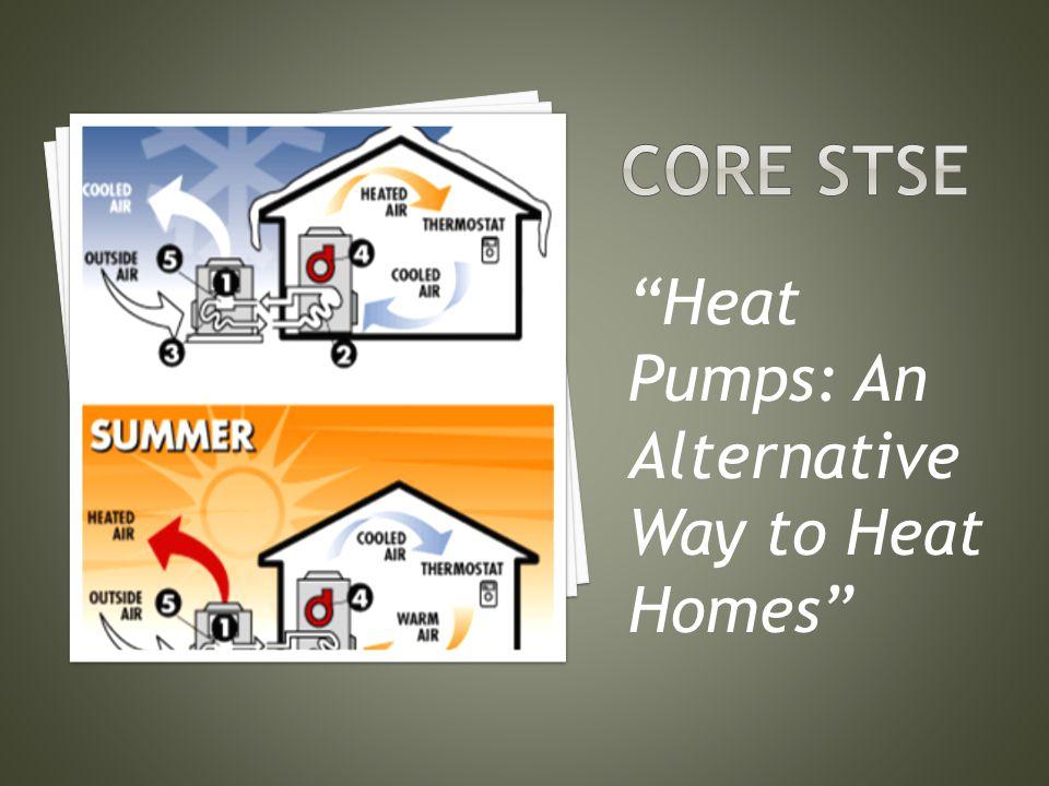 Core stse Heat Pumps: An Alternative Way to Heat Homes