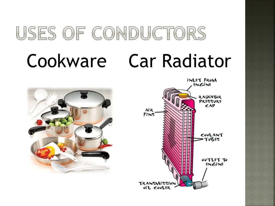 Uses of Conductors Cookware Car Radiator