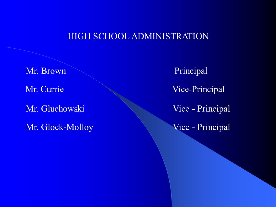 HIGH SCHOOL ADMINISTRATION