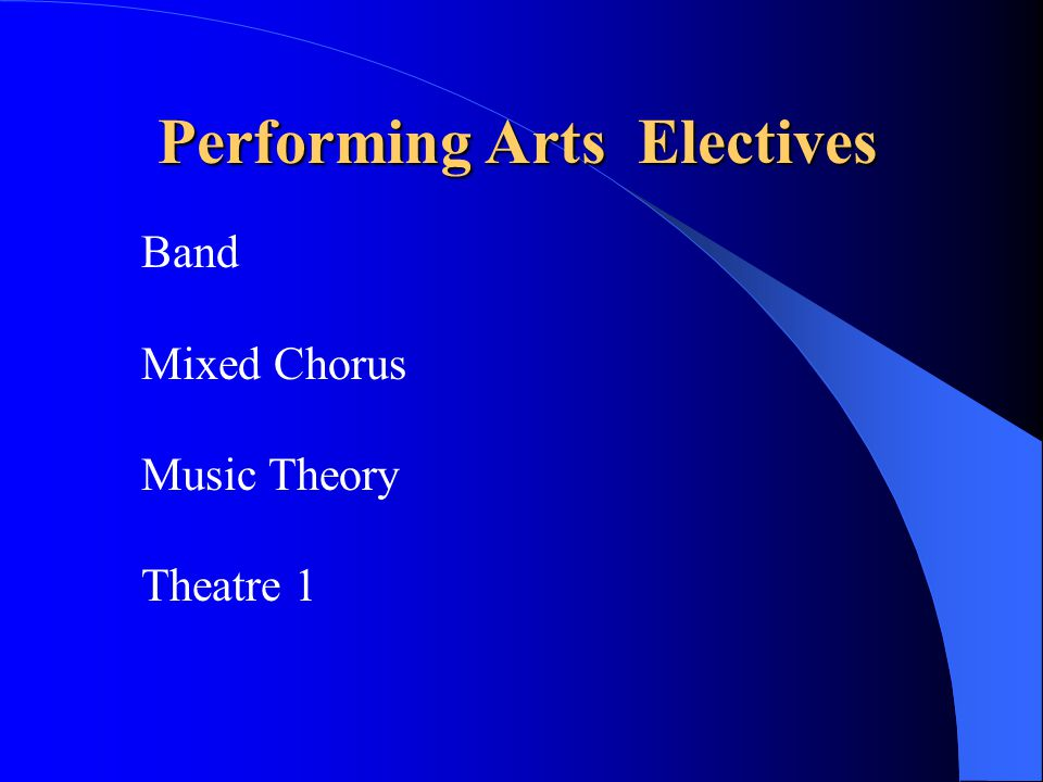 Performing Arts Electives