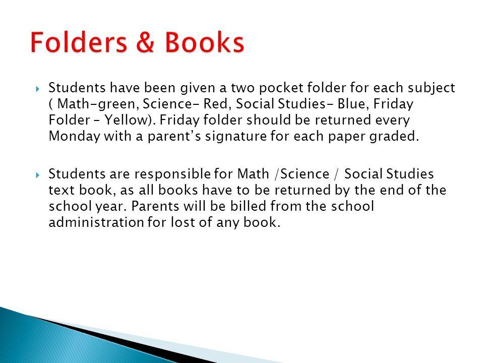 Folders & Books